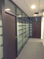 Pose de cloison office notarial Maître Gur